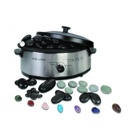 kit appareil massage pierres chaudes